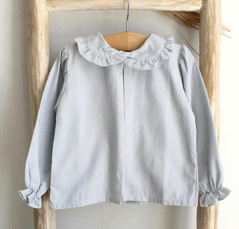 Pukatuka Ruffled Peter Pan Collar Top