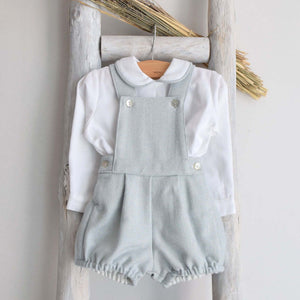Pukatuka Tweed Romper- Blue Gray