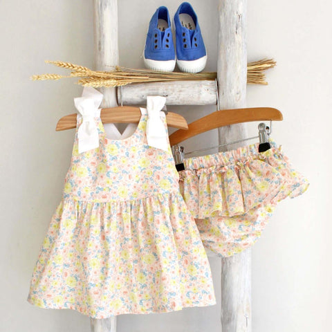 Pukatuka Yellow Floral Bow Set