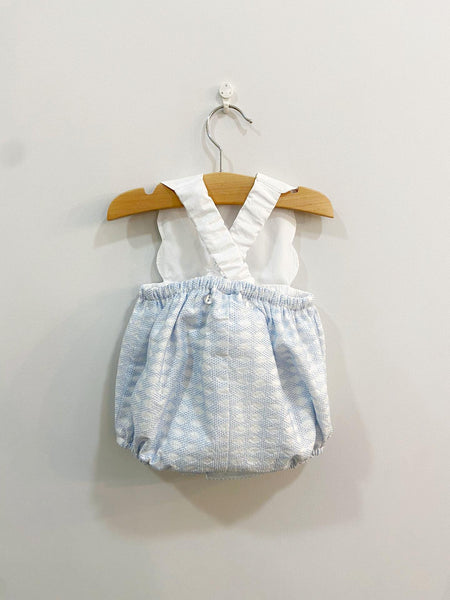 Pukatuka Scallop Sunsuit Pink/Blue IN STOCK