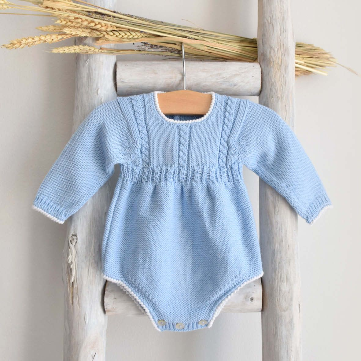 Pukatuka Cable Blue Romper