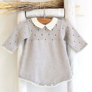 Pukatuka Grey Organic Cotton Romper
