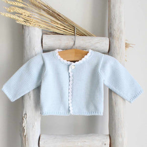 Pukatuka Knit Cardigan Light Blue & Light Pink