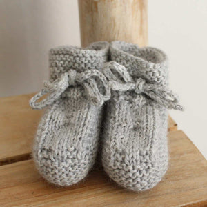 Pukatuka Gray Knit Booties