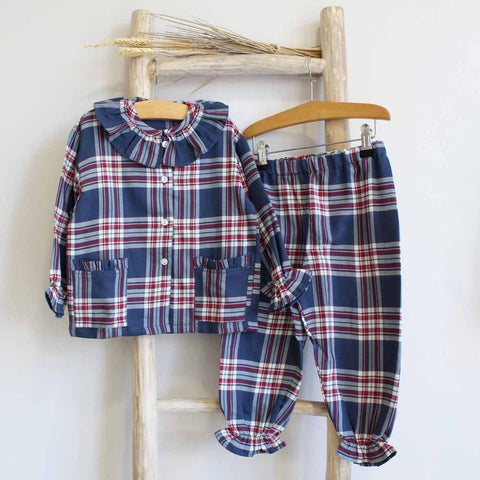 Pukatuka Navy Plaid Pajamas