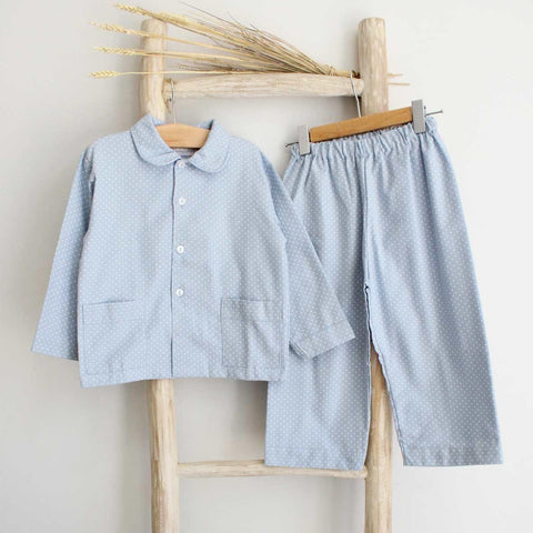 Pukatuka Blue Dot Boys Pajamas