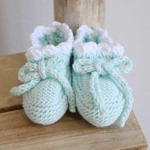 Pukatuka Organic Cotton Green Booties