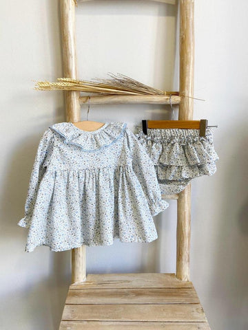 Pukatuka Blue Floral Bloomer Set