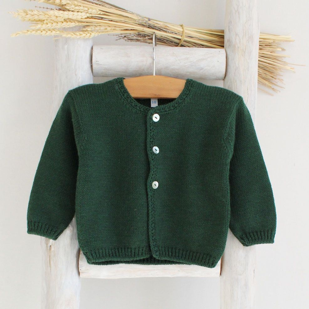 Pukatuka Bottle Green Cardigan