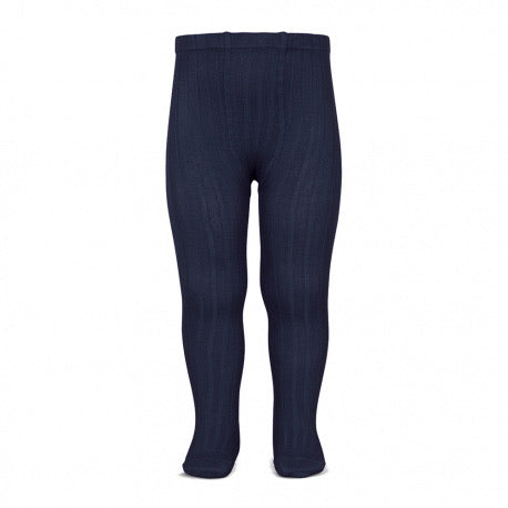 Condor Ribbed Tights-Navy