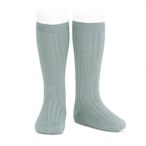 Condor Ribbed Knee High Socks-Sage Green