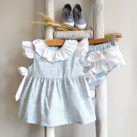 Pukatuka Blue Floral Bow Set