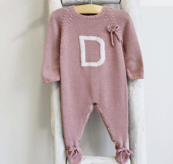 Pukatuka Personalized Letter Romper/Footie