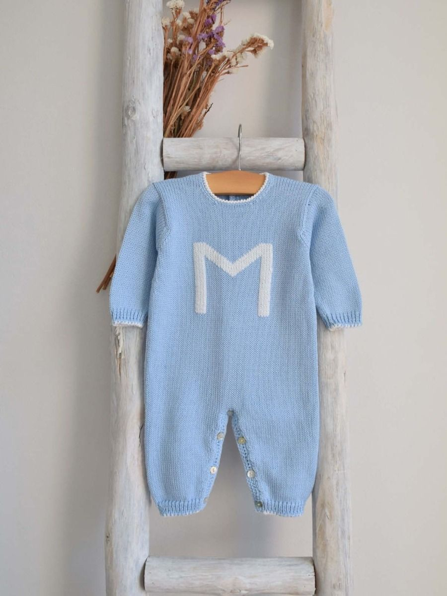"Pukatuka Letter Romper with Letter ""F"" 6m"
