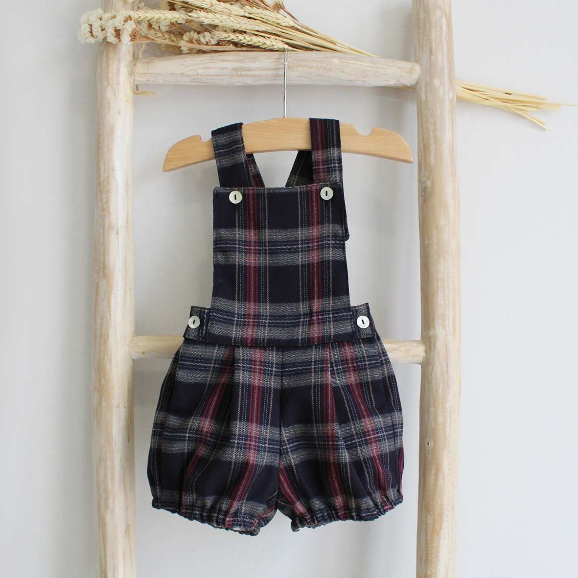 Pukatuka Navy Plaid Shortall