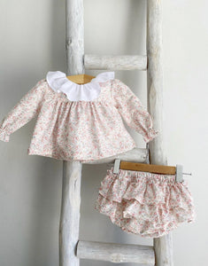 Pukatuka Peach Floral Bloomer Set- IN STOCK