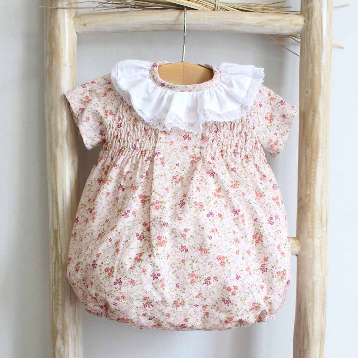 Pukatuka Pink Fall Floral Romper/Dress