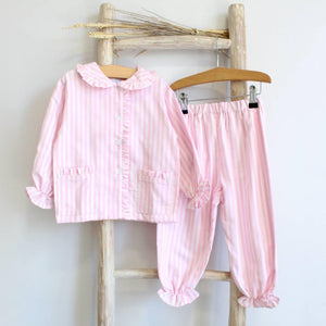 Pukatuka Ticking Stripe Pajamas Boy/Girl