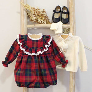 Pukatuka Ruffle Tartan Romper- IN STOCK HOUSTON
