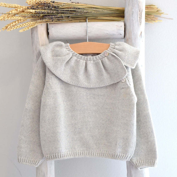 Pukatuka Ruffle Collar Sweater