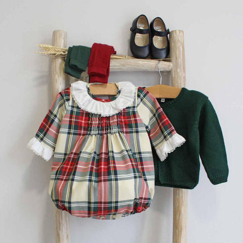 Pukatuka White Tartan Romper/Dress IN STOCK PORTUGAL