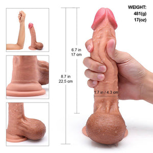 "Large Realistic Flexible Dildo 8.7"" - Cupid's Rack"