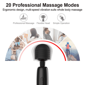 Magic Wand Rechargeable Cordless Vibrator (20 Patterns) - Cupid's Rack