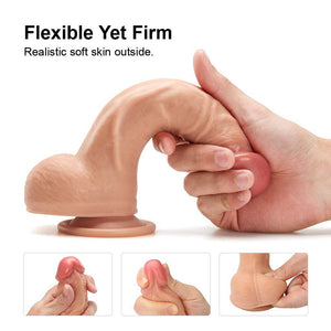 Large Suction Cup Dildo 8'' Big - Cupid's Rack