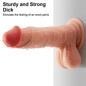 "Thick Realistic Sliding-Skin Dildo (7.5"") - Cupid's Rack"