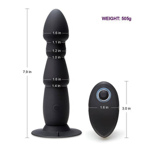 Wireless Remote Control Anal Plug Vibrator - Cupid's Rack