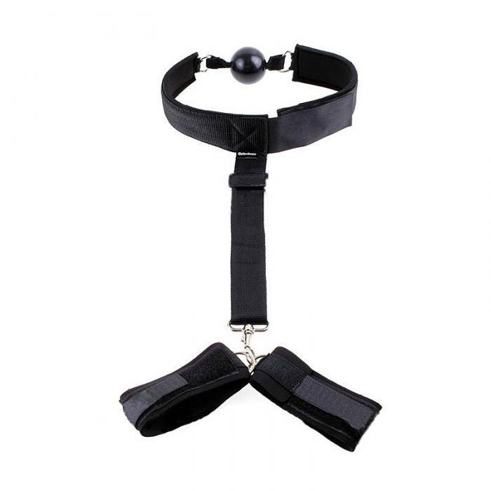 Ball gag & Cuff Set - Cupid's Rack