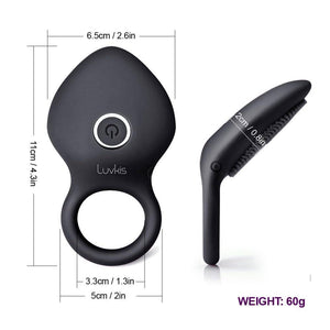 Time Delay Vibrating Cock Ring with Massager Brush - Cupid's Rack
