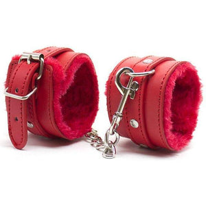 Boudoir Soft Faux Fur Padded Wrist Cuffs - Cupid's Rack