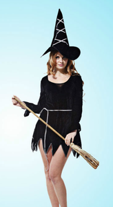 Halloween Black Witch Costumes for Ladies