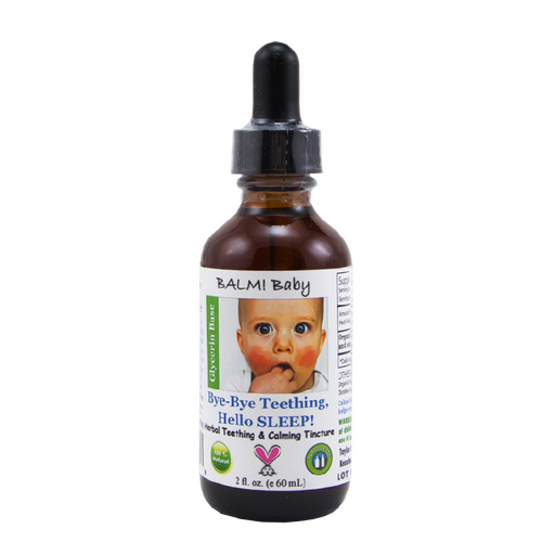 Bye Bye Teething Hello SLEEP! Natural Teething Tincture (2oz/60ml)
