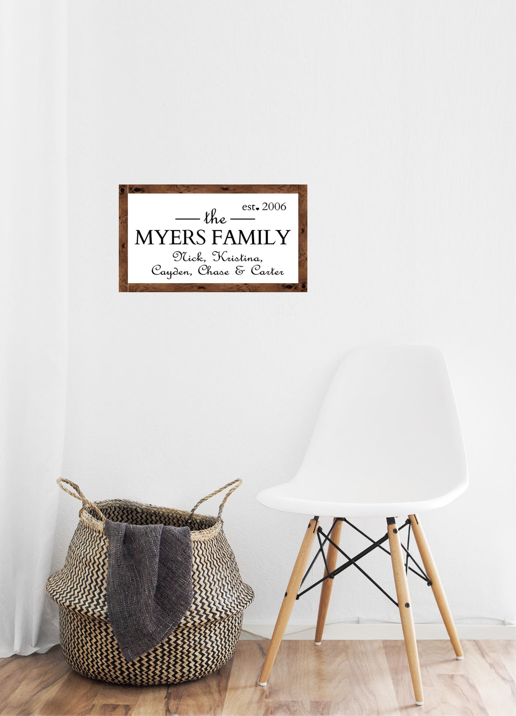 Family name with individual names - Creative Art Bar