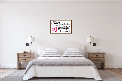 Start each day with a grateful heart - Creative Art Bar