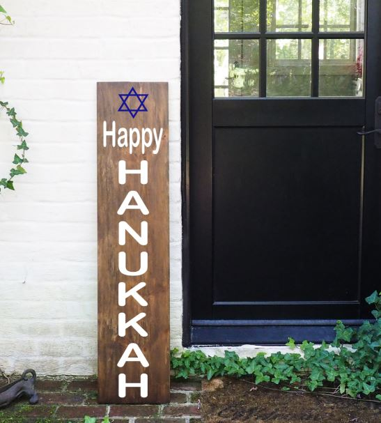 Porch Sign Happy Hanukkah