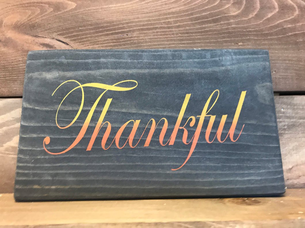 Clearance Thankful Wood Sign