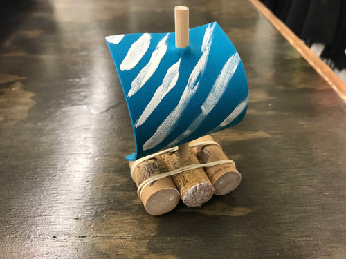 At Home Cork Sailboat Kit - Creative Art Bar