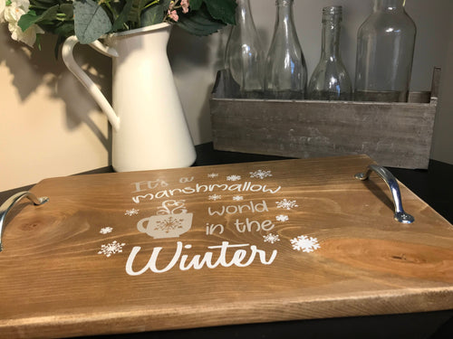 Winter Christmas Tray