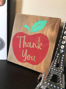 Teacher Appreciation Wood Sign