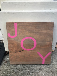 Clearance Joy Wood Sign