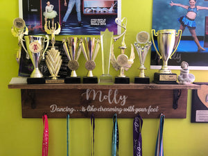 Trophy Shelf and Ribbons