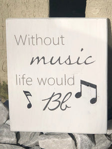 Music Wood Sign