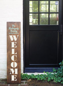 Porch Sign Welcome Family Name