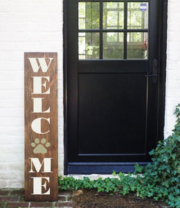Porch Sign Welcome Paw Print