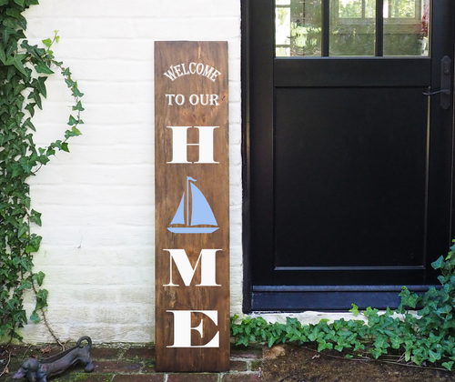 Porch Sign Welcome to our Home Sailboat
