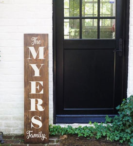 Porch Sign Monogram