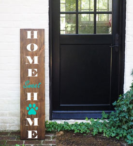 Porch Sign Paw Print